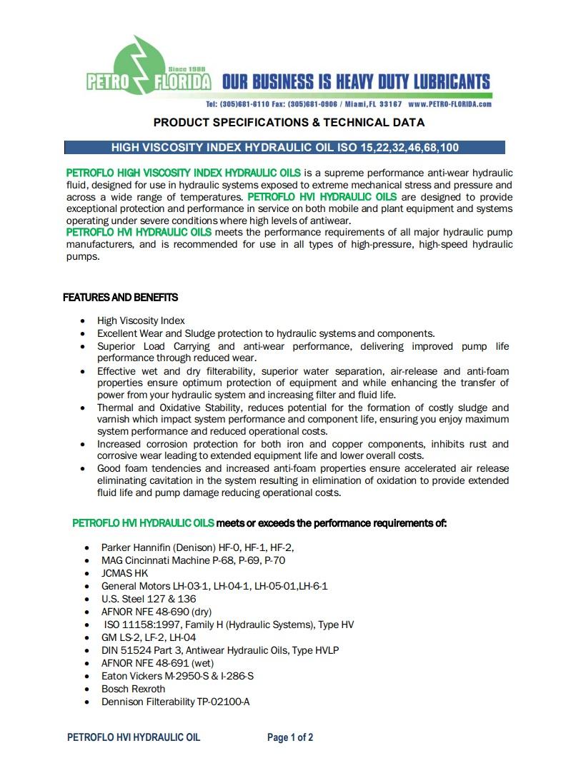 high-viscosity-index-hydraulic-oil